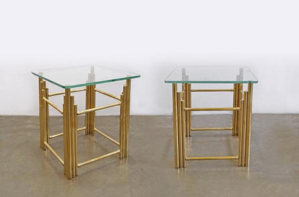 modern brass side table